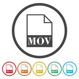 MOV file icon. Vector icon vector illustration