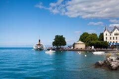 Mova em Vevey no lago geneva em Suíça Fotos de Stock Royalty Free