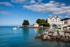 Mova em Vevey no lago geneva em Suíça Imagem de Stock