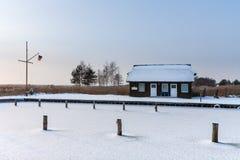 Mova em Wiek (Alemanha) no tempo de inverno Imagens de Stock