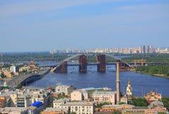 Movable bridge in Kiev, Ukraine Royalty Free Stock Image