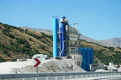 Concrete mixer plants. Movable concrete mixer plants in Turkey stock photography