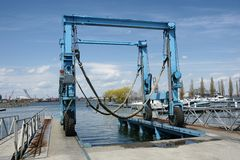 Movable crane Royalty Free Stock Photography