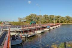 Movable floating bridge Stock Image