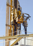 The movable head rig. Drilling Rig with mobile drill head. Installing bore deep wells Stock Photos
