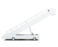 Movable ramp side view isolated on white background. 3d renderin. G Stock Images