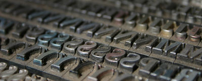 Movable type Royalty Free Stock Image