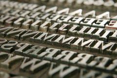 Movable type Royalty Free Stock Photography