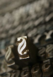 Movable type royalty free stock photos