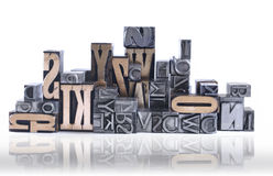 Movable type Royalty Free Stock Images