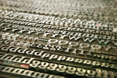 Movable type - background Stock Image