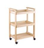 A movable wooden shelf Stock Photos