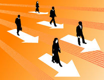 Move Ahead People Stock Photos