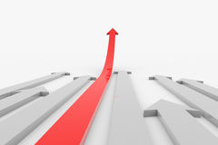 Move ahead red arrow. Royalty Free Stock Photography