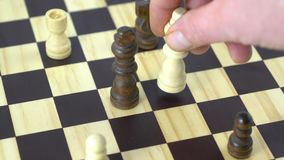 The chess game. Move in a chess game stock video footage
