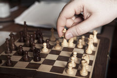 Move Chess Piece Player Royalty Free Stock Photography