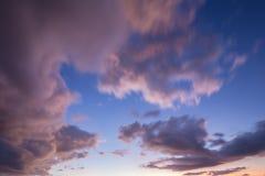 Move cloud at sunset twilight Stock Photo