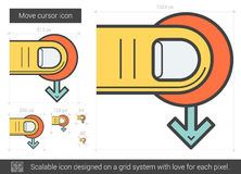 Move cursor line icon. Royalty Free Stock Image