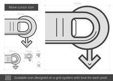 Move cursor line icon. Stock Image