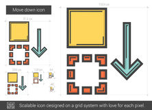 Move down line icon. Royalty Free Stock Image