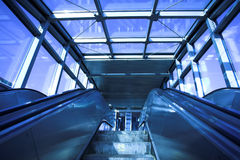 Move escalator in modern office Stock Photos