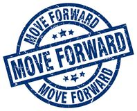 Move forward stamp. Move forward grunge vintage stamp isolated on white background. move forward. sign vector illustration