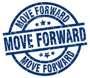 Move forward stamp. Move forward grunge vintage stamp isolated on white background. move forward. sign royalty free illustration