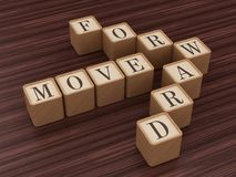 Move Forward. Written in wooden blocks Royalty Free Stock Photography