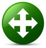 Move icon green round button Royalty Free Stock Photos