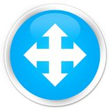 Move icon premium cyan blue round button Royalty Free Stock Images