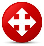 Move icon red round button Royalty Free Stock Images
