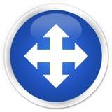 Move icon premium blue round button Royalty Free Stock Photography