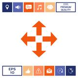 Move icon symbol. Move icon . Signs and symbols - graphic elements for your design Stock Images
