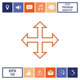 Move icon symbol. Move icon . Signs and symbols - graphic elements for your design Royalty Free Stock Photos