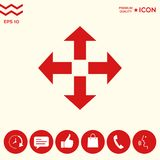 Move icon symbol. Move icon . Signs and symbols - graphic elements for your design Stock Photos