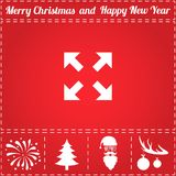 Move Icon Vector. And bonus symbol for New Year - Santa Claus, Christmas Tree, Firework, Balls on deer antlers Royalty Free Stock Image