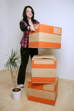 Move in new home Stock Images