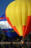 Move Over Big Guy. Hot Air Balloon event Colorado Springs Co, a balloon dump into the lake water Royalty Free Stock Photo