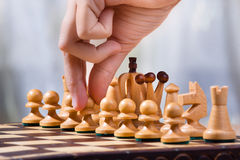 Move a pawn Royalty Free Stock Photo