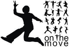 On the move people silhouettes. High quality traced on the move people silhouettes vector illustration vector illustration