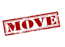 Move. Rubber stamp with word move inside,  illustration Royalty Free Stock Photography