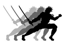 Move samurai Stock Photography