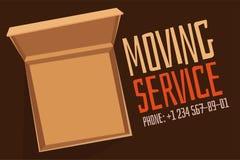 Move service box full vector illustration Royalty Free Stock Photos