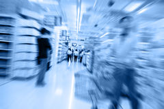 Move in the supermarket. Blur photo Royalty Free Stock Image