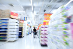 Move in the supermarket. Abstract move in the supermarket Stock Photo