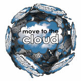 Move to the Cloud Thought Bubbles Idea Plan Online Software Serv Royalty Free Stock Photography