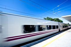 Move train on station Royalty Free Stock Photos