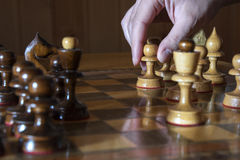Move white pawn. Pawn made the next move arose between the two Queens Royalty Free Stock Photography