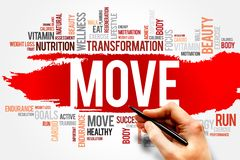 MOVE word cloud Royalty Free Stock Photos