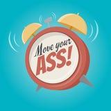 Move your ass alarm clock Stock Image